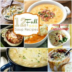 The Crafted Sparrow: 12 - Warm & Tasty Fall Soup Recipes