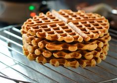 The moonblush Baker: Waffling/-/ Brown butter yeasted waffles