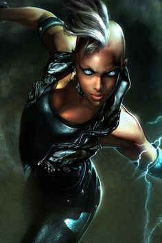Storm Ororo Munroe has the mutant power to manipulate the forces that govern weather, enabling her to summon wind, rain, sleet, snow, and even lightning at will.