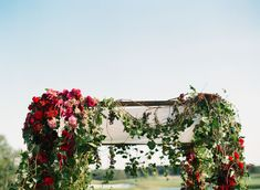 Romantic Ivy and Red Rose Wedding Arch Red Rose Wedding, Fall Wedding, Ivy Rose, Wedding Pictures, Red Roses, Real Weddings, Greenery, Flower Arrangements, Wedding Planning