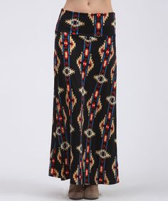 Super Cute Stretchy Tribal Maxi Skirt!