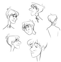Paperman ✤ || CHARACTER DESIGN REFERENCES | キャラクターデザイン • Find more at…