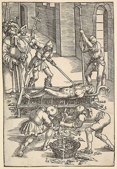 Martyrdom of St. Hans Baldung Grien, Creepy History, Maleficarum, Blood Art, Landsknecht, Arte Horror, Classical Art, Old Master, Vintage Wall Art