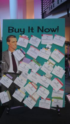 """Buy it now board from Beaverton Mayor's Ball 2013. Items for sale - bidder """"buys"""" it right then. item replaced with next. They had dinners, stain glass classes, hair styling, etc."""