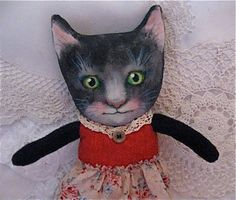my cat art doll Gracie.........copyright protected by Sandy Mastroni