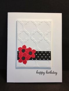 A Petite Petals and Modern Mosaic Birthday Card Stampin' Up! Rubber Stamping Handmade Cards Stamp a Stack