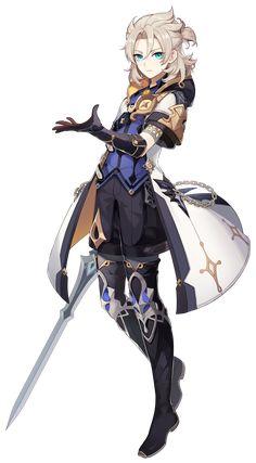 Albedo | Genshin Impact Wiki | Fandom Albedo, Fantasy Character Design, Character Art, Fantasy Characters, Anime Characters, Light Blue Eyes, Cosplay, Character Reference, Pretty Boys