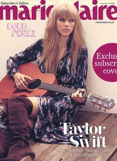 Taylor Swift Strums Along On The Cover Of Marie Claire UK