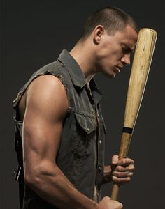 Channing with a baseball bat. This just makes him even sexier.
