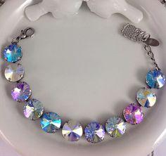 Prism Swarovski Bracelet Goes Well With Sabika Premium Swarovski Crystals #Handmade #Tennis