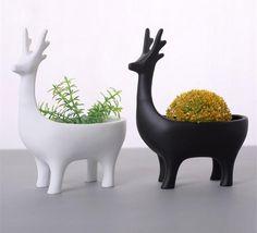 Super Cute Ceramic Animal Planters Ideas To Beautify Your Mini Garden - Succulent Display, Succulent Centerpieces, Succulent Bouquet, Hanging Succulents, Succulent Terrarium, Pottery Animals, Ceramic Animals, Flower Vases, Flower Pots