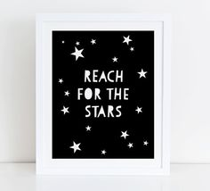 Reach For The Stars Art Print Instant Download by DecorartDesign