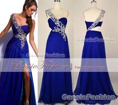 One Shoulder Sweetheart Beading Chiffon Floor Length  Prom Dress,Evening Gown,Wedding Dress,Bridesmaid Dress,Evening Dress