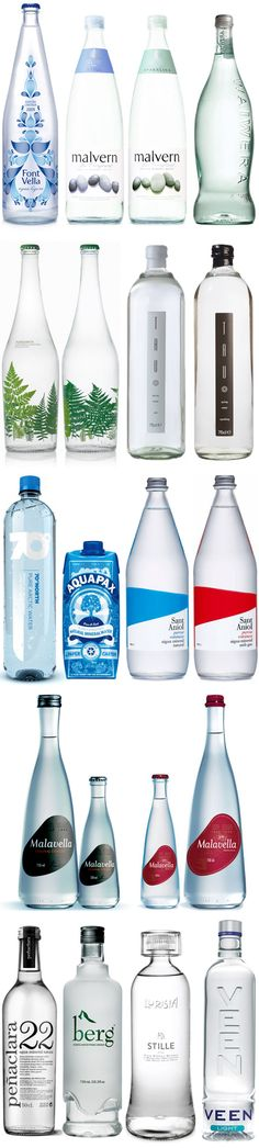 Bottled water inspiration by various talented designers