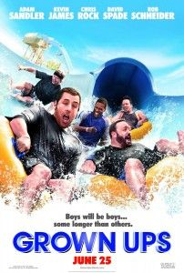 Grown Ups Movie Poster Adam Sandler David Spade