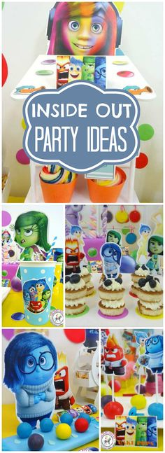 So many colorful ideas at this Inside Out party! See more party ideas at CatchMyParty.com!