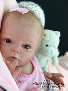 """PEACHES AND CREAM  """"Livia"""" Gudrun Legler Now Reborn Baby Girl Taylor"""