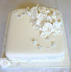 wedding cake from Jan Bowen at The Cake Box Wales