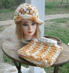 crochet hat and bag1 100 Unique Crochet Hats