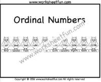 Ordinal Numbers – One Worksheet