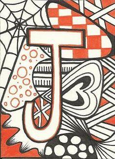 zentangle letters | zentangle alphabet | Tumblr