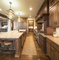 18 Kitchen With Dark Wood Cabinets Design Ideas Kitchen redesign is the best investment no matter what state or region you are in. checkout 18 Kitchen With Dark Wood Cabinets Design Ideas. Dark Wood Cabinets, Rustic Kitchen Design, Farmhouse Kitchen Cabinets, Farmhouse Style Kitchen, Home Decor Kitchen, Kitchen Designs, Rustic Farmhouse, Kitchen Ideas, Huge Kitchen