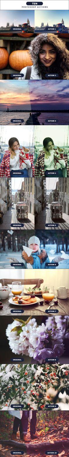 TEN - Photoshop Actions