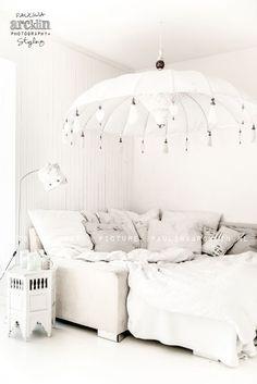 white home design inspiration Home Design, Interior Design, Interior Ideas, Parasols, Moroccan Design, White Houses, Home Bedroom, Kids Bedroom, Bedroom Decor