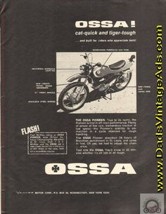 1969 Ossa Pioneer – cat-quick and tiger-tough
