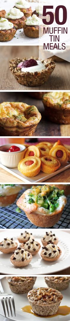Check out these 50 meals you can make in a muffin tin![ Borsarifoods.com ] #products #recipes #food
