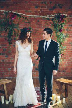 I love this dress! - Photography: Alison Mayfield Photography Studio - alisonmayfield.com Read More: http://www.stylemepretty.com/australia-weddings/2014/08/26/urban-bohemian-wedding-inspiration/