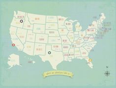 SO fun! put a sticker on the places you visit as a family.  My Travels USA Map 24x18