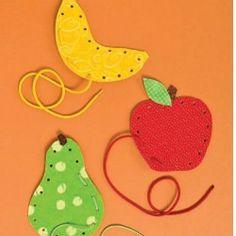 Vs fruit of the spirit: Fruit Lace Ups Craft