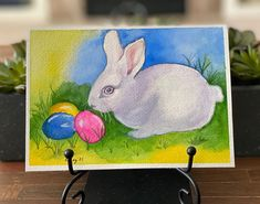 "Barbara Ford on Instagram: ""Ready for #spring!! This sweet little #Easterbunny is inspired by #AnnaBucciarelli. #watercolor #watercolorbunny #bunny #bunnyrabbit…"" Bunny Rabbit, Easter Bunny, Tweety, Ford, Watercolor, Inspired, Spring, Fictional Characters, Inspiration"