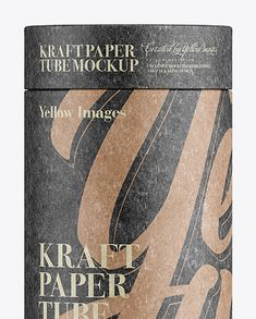 Middle Kraft Paper Tube Mockup – Front View. Preview (Close-Up)