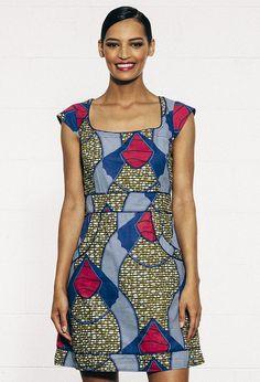 Tulsi Dress - African Blue
