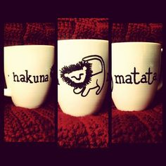 "Disney's The Lion King ""hakuna matata"" Hand-Designed Mug on Etsy, $9.00"