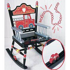 Fire truck rocking chair