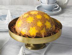 Schoko-Gewürz-Kuppeltorte mit Orangensternen