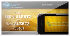 TextAlertz Mobile Marketing - Now there is a fast, affordable and easy way to stay in contact with your customers. Text Marketing is a powerful new way to increase sales for your business. Find out why businesses and organizations of all types are using TextAlertz to enhance their communications   https://www.textalertz.com/Default.aspx?Language=1=L411490