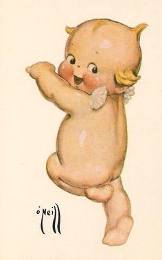 Soloillustratori: Rose O'Neill ( i kewpies) Vintage Greeting Cards, Vintage Postcards, Vintage Pictures, Vintage Images, Vintage Artwork, Cupie Dolls, Kewpie Doll, Paper Dolls, Art Dolls