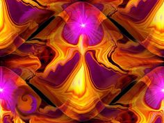 "Psychedelic Art, Chakra Balancing, Digital Painting, Reiki Healing, Angel Art Print, """"Angel Fire"""""