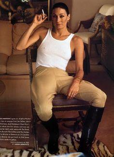 Anjelica Houston, photographed by Annie Leibovitz