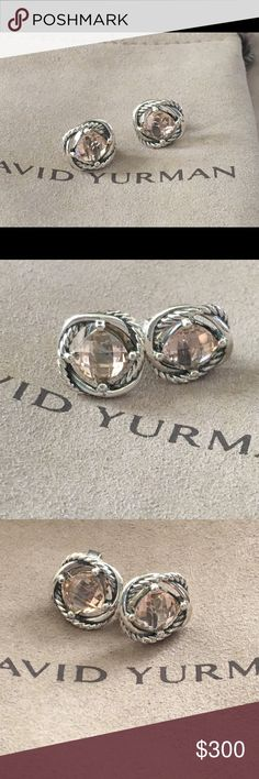 Cofa David Yurman Infinity Morganite Earrings Pink In Sterling Silver