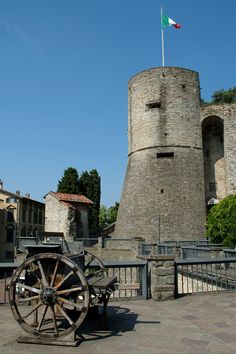 Rocca Fortress, Bergamo, Italy  ✈✈✈ Here is your chance to win a Free Roundtrip Ticket to Bergamo, Italy from anywhere in the world **GIVEAWAY** ✈✈✈ https://thedecisionmoment.com/free-roundtrip-tickets-to-europe-italy-bergamo/
