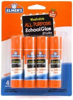 Elmer's Washable All-Purpose School Glue Stick, .24 oz,  4 Pack (E542) Elmer's http://www.amazon.com/dp/B001E69WBW/ref=cm_sw_r_pi_dp_PUB.tb1CZ2GZM