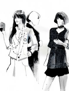 live sketches from the chanel boutique on robertson blvd