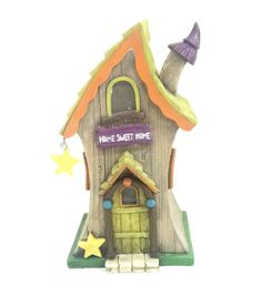 Fairy Garden Whimsical Roof House-Green