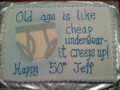 Trendy Birthday Cake Ideas For Adults Mom Over The Hill Trendy Geburtstagstorte Ideen 50th Birthday Party Ideas For Men, Moms 50th Birthday, Funny Birthday Cakes, Birthday Sheet Cakes, Funny Cake, Birthday Fun, Cake Birthday, Birthday Parties, Birthday Sayings