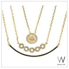 Semijóias — Mix de colares Waufen folheado a ouro 18k !...
